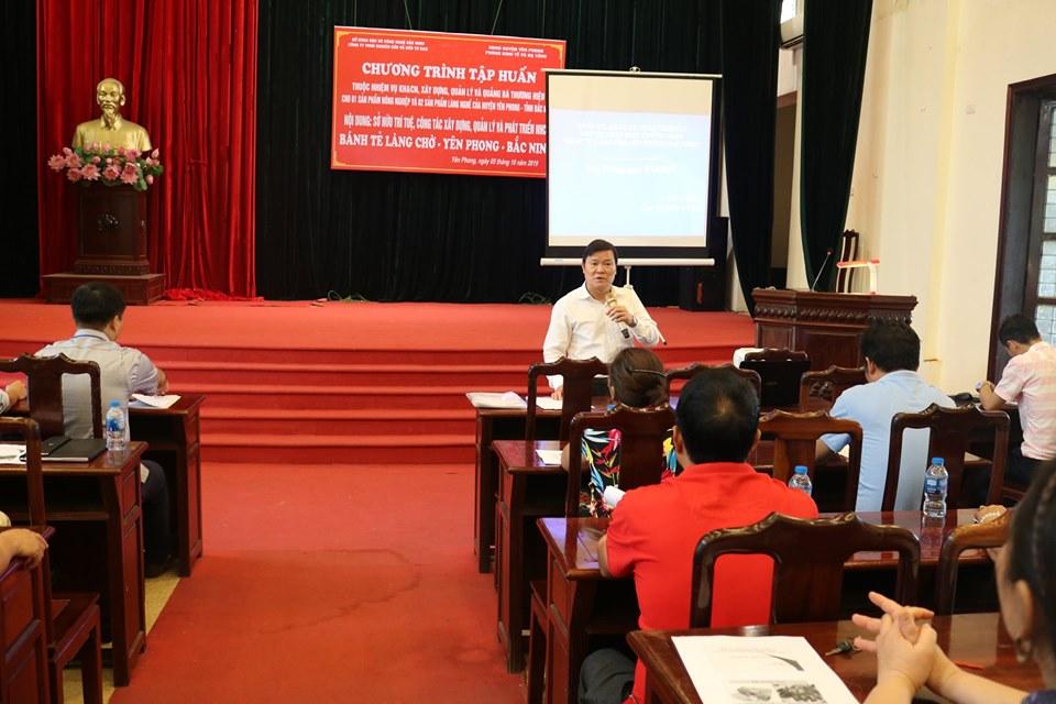 Chuyên gia Lê Tất Chiến thảo luận về ý nghĩa của việc đăng ký nhãn hiệu Bánh tẻ làng Chờ
