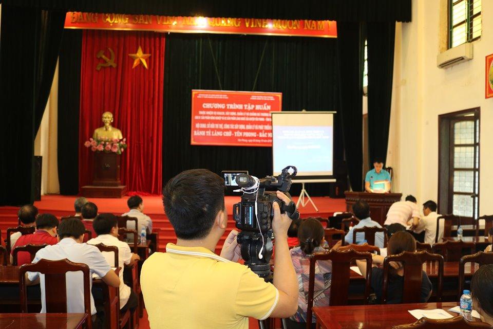 Đài truyền hình Bắc Ninh ghi hình buổi tập huấn